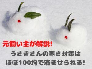 元飼い主が解説!うさぎさんの寒さ対策はほぼ100均で済ませられる!