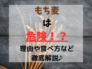 必見!もち麦の危険性からダイエットの際の注意点まで徹底解説!